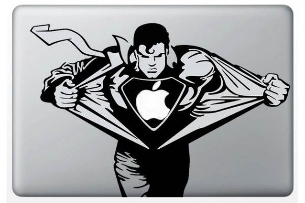 autocollant-superman-pour-macbook