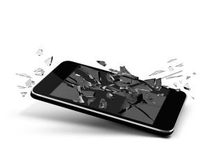 iphone tombé par terre